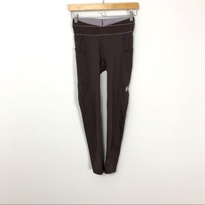 Free People Movement Brown Legging Side Pockets B5